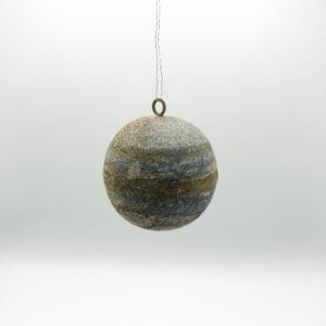 aged zinc bauble