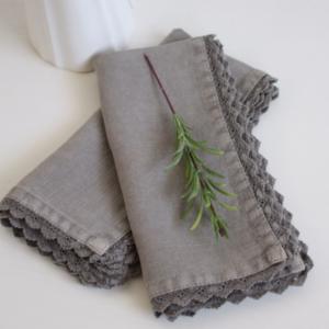 marina olive grey napkins