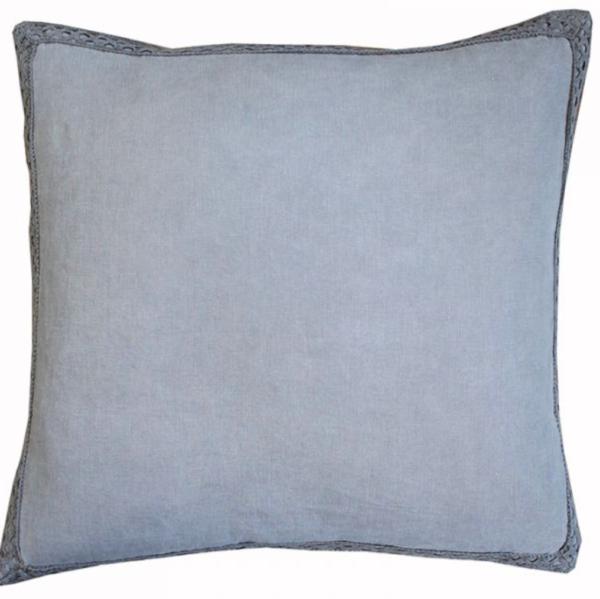 grey lace cushion
