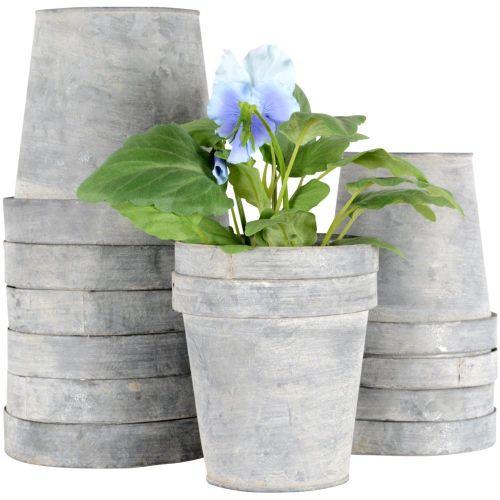 zinc pot flower