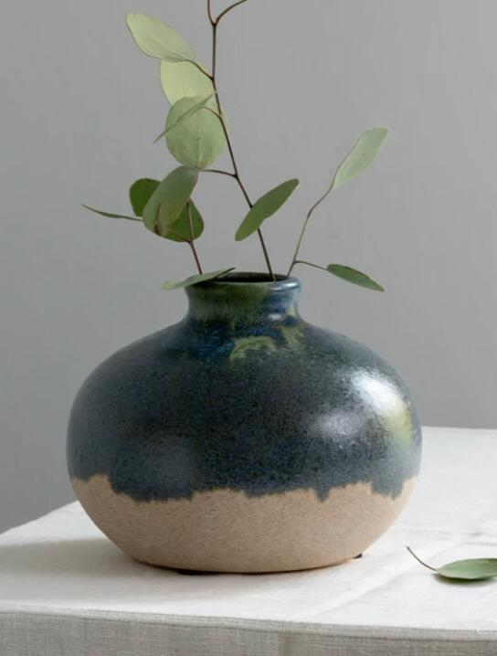 Blue Green Dipped Vase