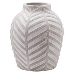 Geometric stone vase