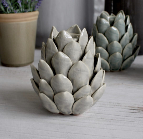artichoke candle holder